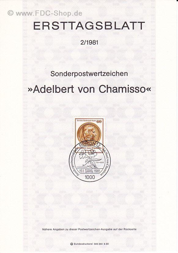 Berlin 1948-1990 Berlin Nr.637 Achim Von Arnim 1981 Gestempelt